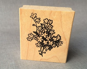 Baby's Breath Flower Rubber Stamp