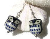 Adorable Blue Owl Earings