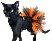 Cat Costume - Cat Clothes - Halloween Black and Orange Cat Tutu - Cat Dress - Cat Clothing - Cat Halloween Costume