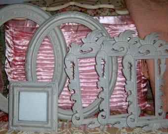 SALE.Painted Frames, Ornate Frames, Oval Frames,Distressed, Resin Frames,, Shabby Chic,