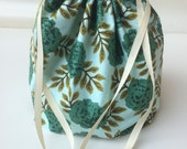 SALE Roses Shawl Sack/Project Bag In Stock, Ready to Ship