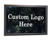 """RESERVED Engraved Bar Mirror with Custom Design: 24"""" x 36"""" w/ Hardwood Frame, Personalized Bar Mirror, Etched Bar Mirror"""