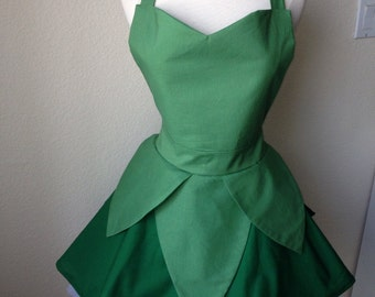 Tinkerbell costume apron dress