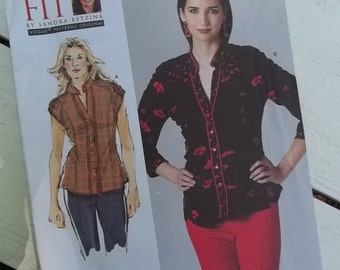 Uncut Vogue 1260 Sewing Pattern - Today's Fit, Sandra Betzina - Misses Blouse - All Sizes Included