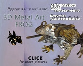 Metal Art Frog, Steel Art Frog, Garden Art Frog by Brown-Donkey Designs