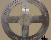 Obedient Christian Metal Art Sign - English Version