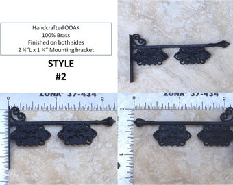 Dollhouse Miniature 1:12 (1 inch scale) Sign Holder #2. 'Wrought iron' metal. OOAK. Free shipping in USA