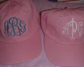 CHILD (youth) size Soft cotton unstructured twill ball cap in great summer colors   Monogrammed in your choice of font and color