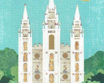 Salt Lake City, Utah LDS Temple PRINT (Various Sizes)