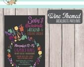 Printable Wine Themed Bachelorette Party Invite
