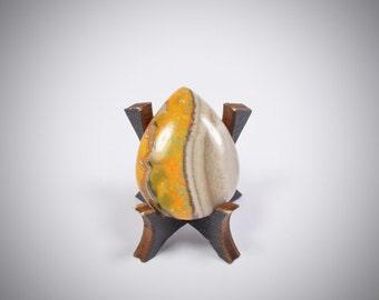 Eclipse (Bumblebee) Jasper flat back cabochon - stone for bezel - Fabby Dabby Stones