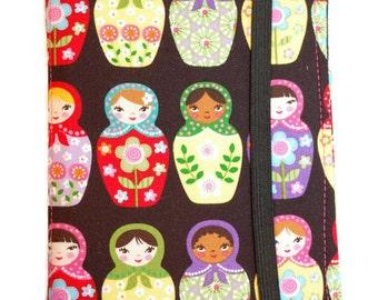 Matryoshka Doll Fabric Notepad Cover