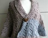 Crochet Pattern, INSTANT DOWNLOAD crochet wrap pattern, cardigan crochet pattern, sweater fall crochet pattern 217