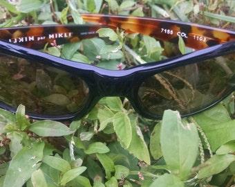 Alain Mikli Sunglasses/Vintage Mikli par Mikli Designer Frames/Handmade in France Circa 80's NOS