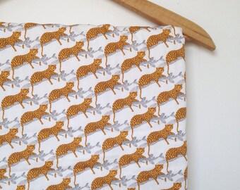 Baby Crib Travel Stroller Blanket lounging CHEETAH japanese fabric