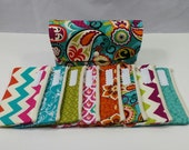 Cash Envelope Wallet JUMBO size, 8 to 15 Cash Envelopes & Pouch -Funky Paisley- (It can be used with the Dave Ramsey system)