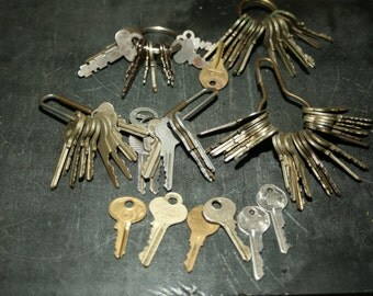Lot of Silver and Brass Keys, Skate Keys, Project, Wedding Decor, Key, Lot of 85 Keys, Home