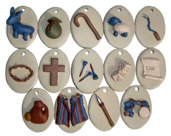 Handpainted Easter Resurrection Ornaments