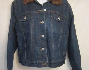 Ralph Lauren Vintage Jean Jacket with Furette Collar