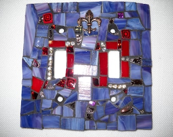Double Mosaic Light Switch Cover