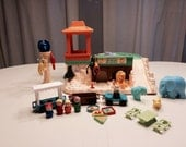 Vintage Fisher Price Little People Zoo Fisher Price Playset #916 Near Complete Set