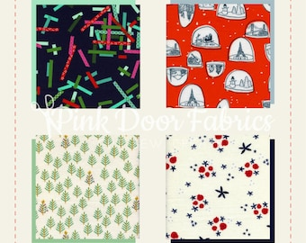 Tinsel BRUSHED COTTON - Full Yard Bundle of 4 prints - Cotton + Steel (Tinsel FY)
