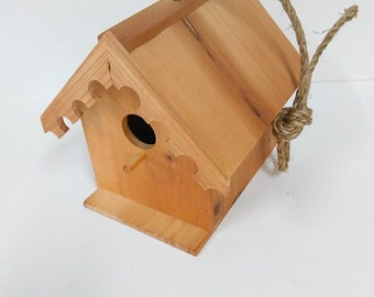 Birdhouse Cottage Stained Redwood