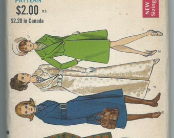 Vintage 1960s Sewing Pattern Misses' Coat in Three Lengths Vogue 7448