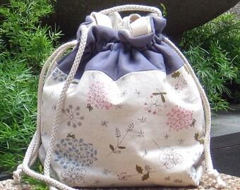 3 in 1 handbag / shoulder bag / crossbody bag ~ Flowers (A18)