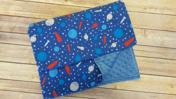 Sale 334x29 space blanket rocket ship blanket solar system for Space minky fabric