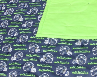 NFL Seattle Seahawks baby quilt.