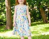 Butterfly Dress, Girls Dress, Boutique Dress, Toddler Dress, Vintage Butterfly Dress, Girls Twirl Dress, Butterfly Twirl Dress, Childs dress