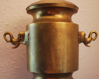 Large Antique BRASS ICE BUCKET - 1940s