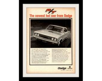 1967 DODGE CORONET Magnum Car Ad, Vintage Advertisement Print