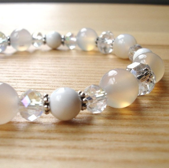 Bridal Bracelet - Wedding Jewellery - Bridesmaid Gift - Crystal Sparkle Bead Bracelet Jewellery - Fashion Bracelet