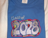 READY TO SHIP!!!!  Iris Color....   Keepsake Class of 2028 Shirt ---  Have an extra made. Ladies Large 2028