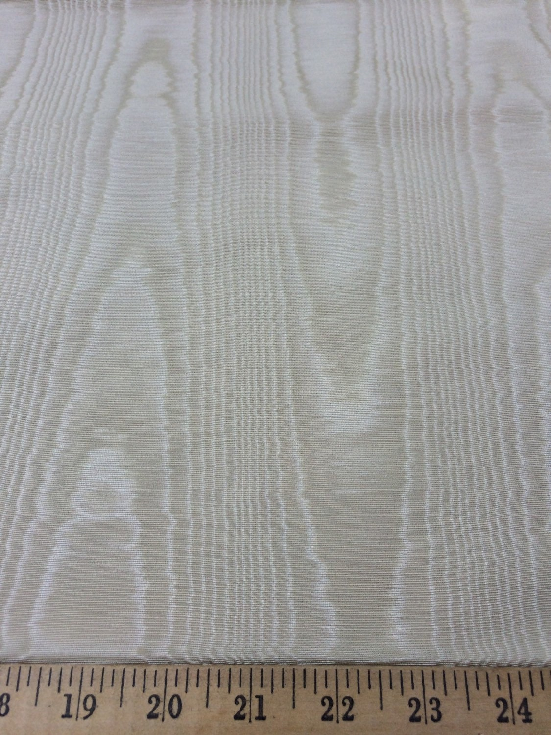 Light Beige Moire Bengaline Faille fabric 55 wide sold