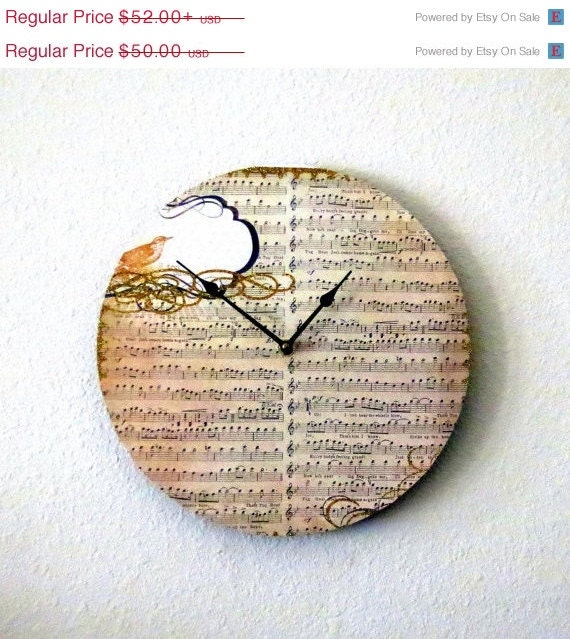 Sale holiday sale unique wall clock decor and by shannybeebo Unique clocks for sale
