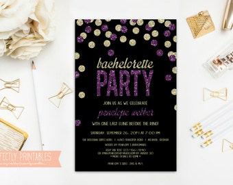 Printable Bachelorette Invitation