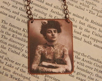 Feminist Necklace necklace mixed media jewelry