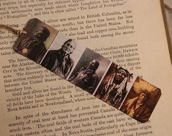 Bookmark Great Native Americans inspired bookmark metal bookmark