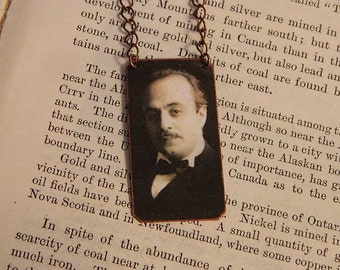 Khalil Gibran necklace mixed media  jewelry Literature Poetry Jewelry