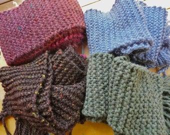 Men's Soft Winter Hand-Knited Scarves