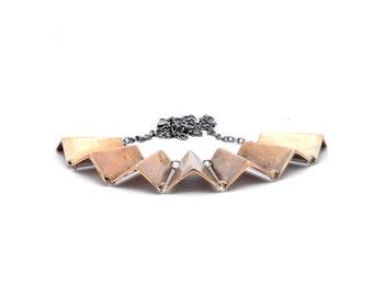 Fan necklace // bronze