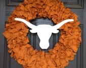 "Longhorns 18"" wreath"
