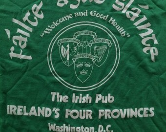 Vintage The Irish Pub DC Tshirt