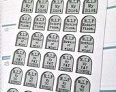 A99 - 30ct Oh Hey Sarcastic Gravestones