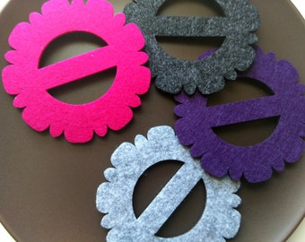 Naplin Ring, Felt Napkin Ring, set of 4 and more, home deco, party supply, creatvie gift idea.