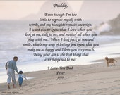 "Daddy to Little Boy Poem Personalized Keepsake of the Forming Bond Between Them 8 1/2""by 11"" Ready to Frame"
