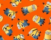 One in a Minion Cotton Fabric Tossed Minions Despicable Me Quilting Crafts sewing decorating
